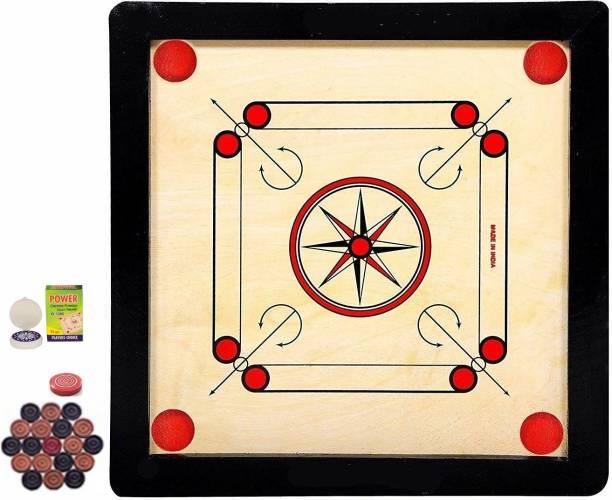 vnh Premium Small Size (20 X 20inches)Wooden Carrom Board with Coins, Striker & Powder 35 cm Carrom Board