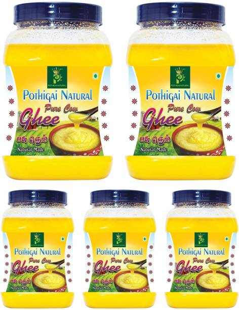 POTHIGAI NATURAL 5LITRES COMBO PURE COW GHEE 100% NATURAL MADE 5000ML Ghee 5000 ml Plastic Bottle