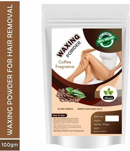 Green Aroma Herbal Waxing Powder ( coffee Fragrance ) For Naturally Instant Remover Of Hair, D-Tan Skin & Dead Cell For All Types Of Hair & Skin Wax Wax