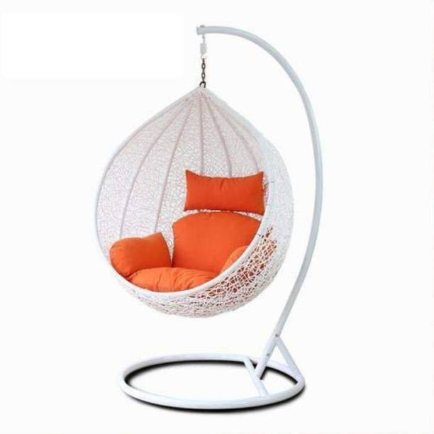 JDS Kart Swing Chair With Stand And Cushion Iron Large Swing