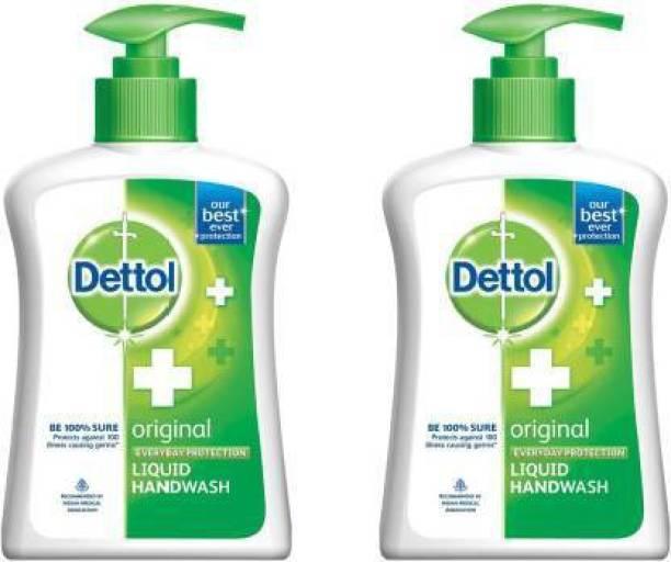 Dettol ORIGNAL HAND WASH PUMP 200 ML (PACK OF 2) 200 ML Hand Wash Pump Dispenser