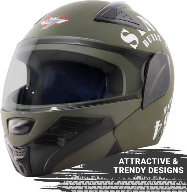 Steelbird SB-34 7Wings TRX Tank Flip Up Graphics Helmet Motorbike Helmet