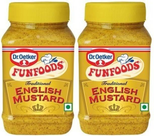 FUN FOODS English Mustard 300 Gram Pack Of 2 600 g