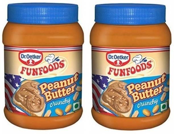 FUN FOODS Peanut Butter Crunchy 925 Gram Pack Of 2 1850 g
