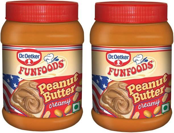 FUN FOODS Peanut Butter Creamy 925 Gram Red Pack Of 2 1850 g