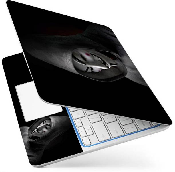 POINT ART HQ Laptop Skin Full Panel Decal Sticker Glossy Vinyl Fits Size Bubble Free – Hoody Hacker Vinyl Laptop Decal 15.6