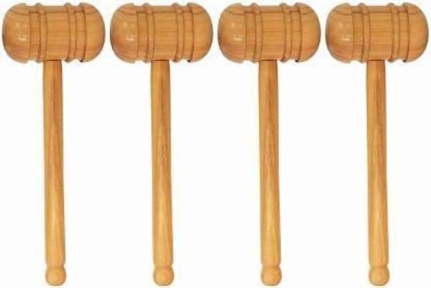 Krullers Cricket Bat Knocking Hammer Pack of 4 Wooden Bat Mallet Wooden Bat Mallet