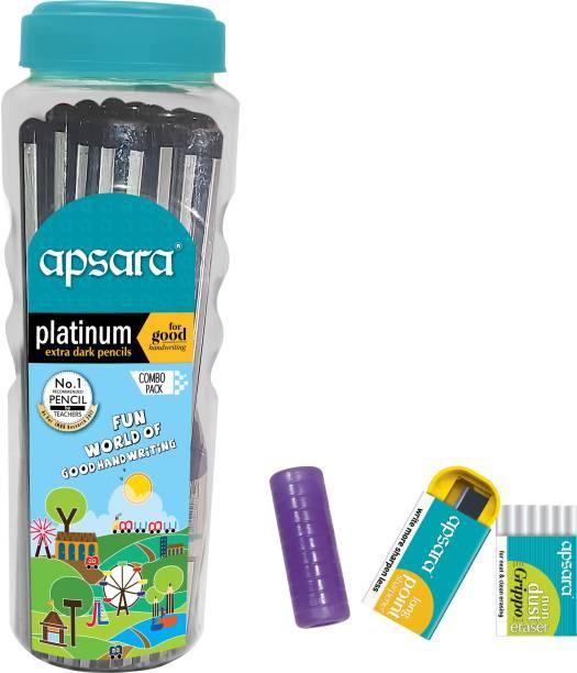 APSARA Platinum Pencils 50 Pcs Jar Pencil