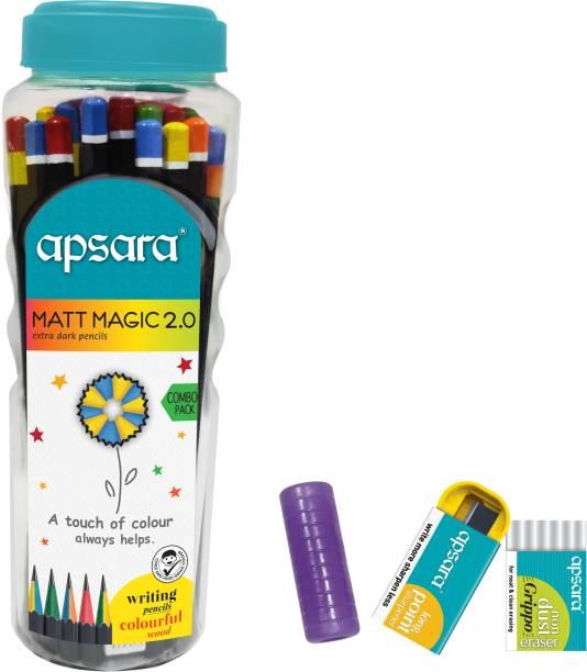 APSARA Matt Magic 2.0 Pencils 50 Pcs Jar Pencil