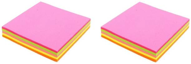 officekart Neon Mix Assorted Colour (Pack of 2, 160 Sticky Notes) 80 Sheets RS - NEON MIX, 4 Colors