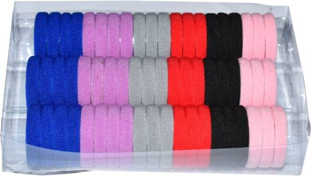 SHD COLLECTIONS Ponytailers Hair Ties Elastic Big Pack Soft & Strong No Metal Rubberbands for Girls Women,Small Rubber Band (Multicolor) Pack of 66 RUBBER Rubber Band