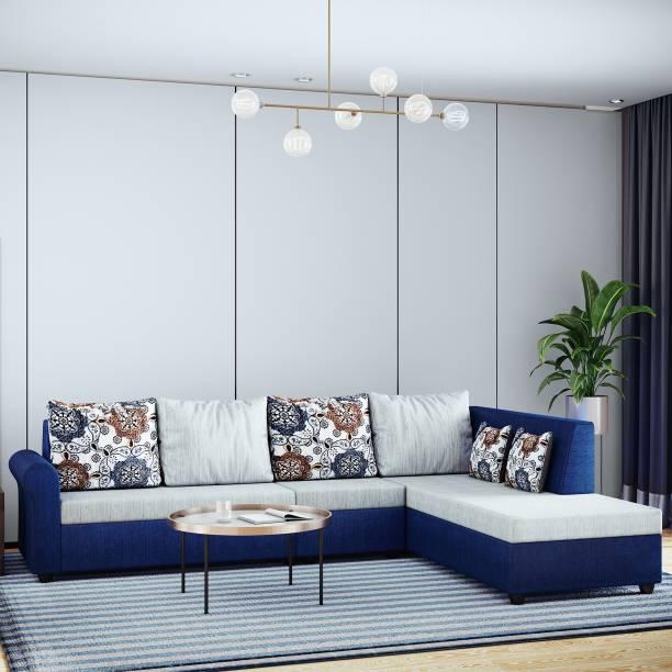 Bharat Lifestyle Rubik Fabric 6 Seater  Sofa