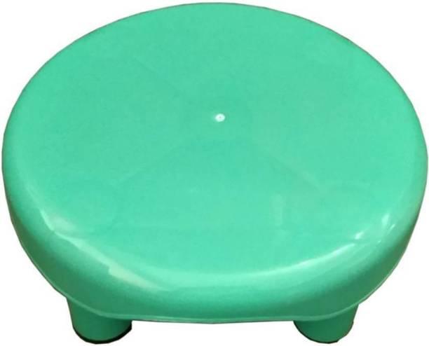 Plastico BATHROOM GREEN ROUND STOOL Stool