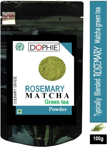 dophie Rosemary Matcha Green Tea Powder 100g [PACK-1]Culinary Grade Magical taste of ROSEMARY , Excellent for Weight Loss - More Antioxidants than Green Tea Bags Herbs Matcha Tea Pouch. Herbs Matcha Tea Pouch