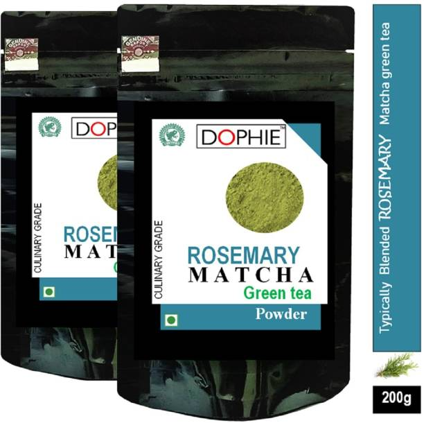 dophie Rosemary Matcha Green Tea Powder 100g [PACK-2]Culinary Grade Magical taste of ROSEMARY , Excellent for Weight Loss - More Antioxidants than Green Tea Bags Herbs Matcha Tea Pouch Herbs Matcha Tea Pouch
