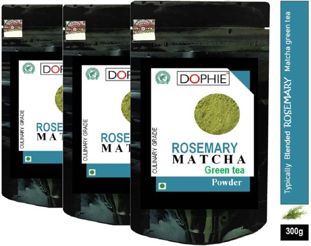 dophie Rosemary Matcha Green Tea Powder 100g [PACK-3]Culinary Grade Magical taste of ROSEMARY, Excellent for Weight Loss - More Antioxidants than Green Tea Bags Herbs Matcha Tea Pouch Herbs Matcha Tea Pouch