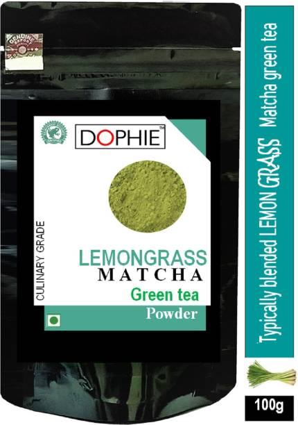 dophie Lemon grass Matcha Green Tea Powder 100g [PACK-1]Culinary Grade – Magical taste of Lemon grass , Excellent for Weight Loss - More Antioxidants than Green Tea Bags Lemon Grass Matcha Tea Pouch