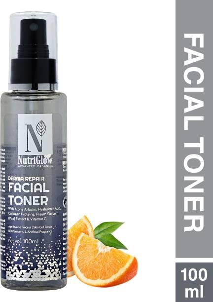 Nutriglow Advanced Organics Derma Repair Facial Toner  Skin Repair  Skin Whitening Toner Facial Toner Men & Women