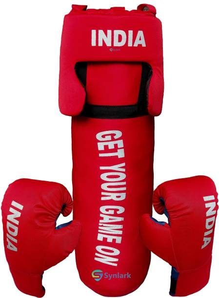 Synlark Kit with Punching Bag for Kids 3 to 9 years 52cm (Multicolor) Boxing