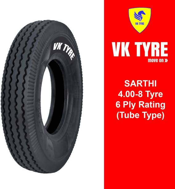 VK TYRE SARTHI 4.00-8 3 Wheeler Tyre