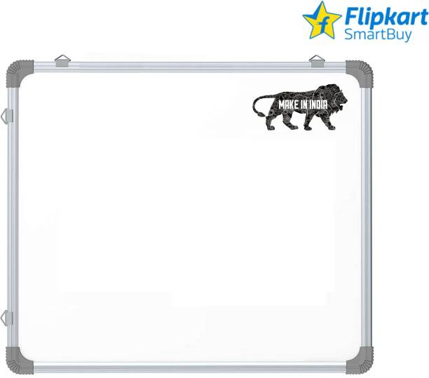 Flipkart SmartBuy Non Magnetic 2X2 Ft Non-Magnetic Kunj Whiteboard | Green Chalk Board Surface On Back Side | Sliding Hanging Clips with Robust Aluminium Frame Finishing Whiteboards