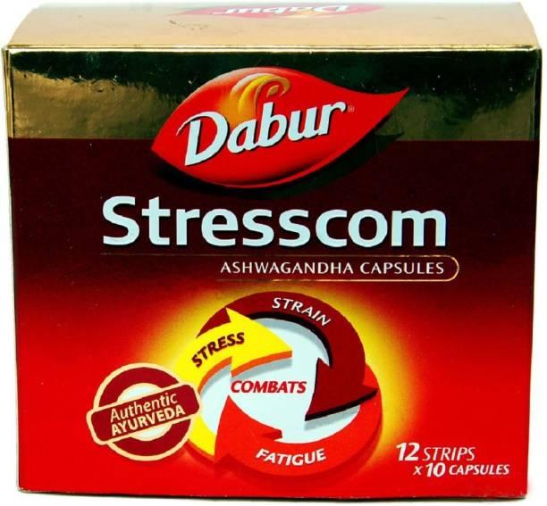 Dabur Stresscom Ashwagandha 120 Caps (10 caps X 12 strips)