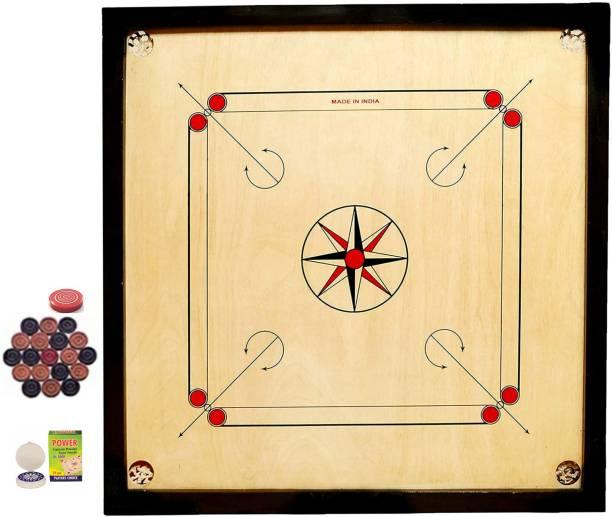 vnh Premium Full Size(32 X 32incches)Wooden Carrom Board with Coins, Striker & Powder 50 cm Carrom Board