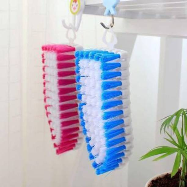 Drosselz Pack of 2 Flexible Cleaning Brush for Multipurpose Cleaning Cloth, Floor, Sink, Tile etc Plastic Wet and Dry Brush