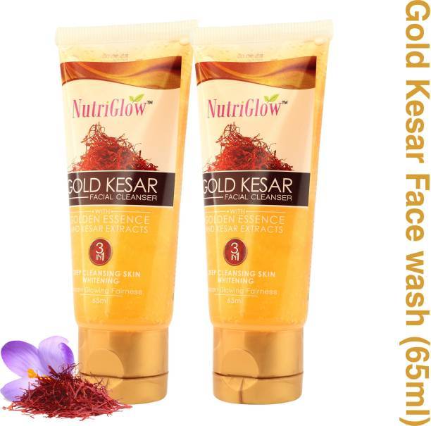 NutriGlow Gold Kesar Facial Cleanser (Pack of 2) Face Wash