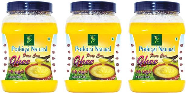 POTHIGAI NATURAL 3LITRES COMBO PURE COW GHEE 100% NATURAL MADE Ghee 3000 ml Plastic Bottle