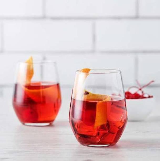 kvira creation (Pack of 2) kc-Water & Juice Glass(pc-4) Water & Juice Glass, Crystal Glass, 400 ml, Set of 4 Glass Set Glass Set