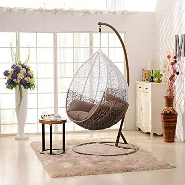 JDS Kart Swing Chair With Stand And Cushion Iron Hammock