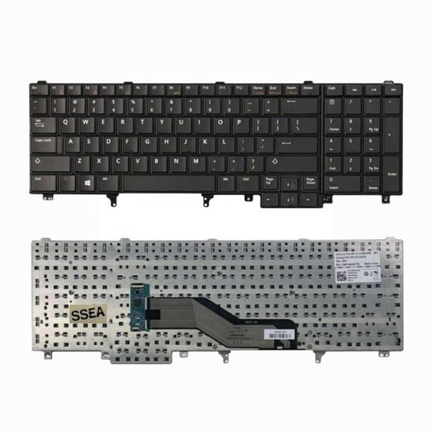 WISTAR Laptop Keyboard Compatible for Dell Latitude E5530 E6520 E6530 Series Laptop Keyboard Replacement Key