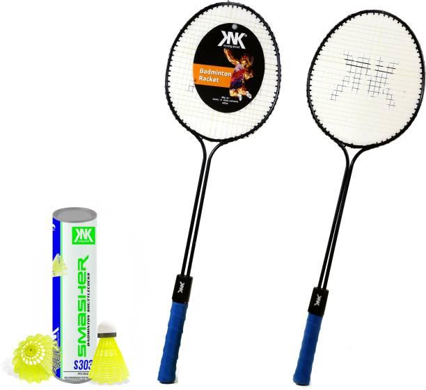 KNK Badminton Racquet Set Of 2 Piece With 6 Piece With Nylon Shuttle Cock Badminton Kit