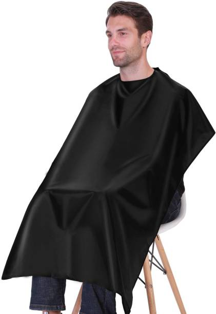 Tifurko Waterproof Barber Styling Cape - Professional Salon Cape for Men, Unisex Black Hair Cutting Cape with Adjustable Makeup Apron
