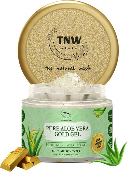 TNW - The Natural Wash Pure Aloe Vera Gold Gel-Soothing & Hydrating Gel With 24 carat Gold