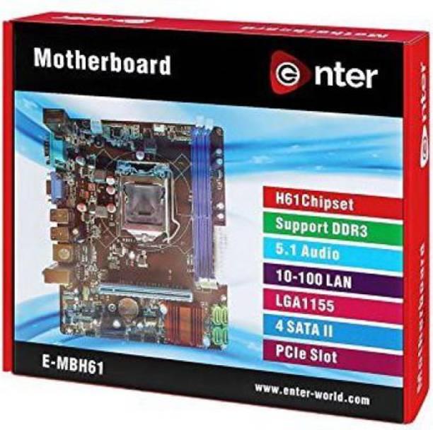 Enter i3,i5,i7 SUPPORT E-H61 MOTHERBOARD Motherboard