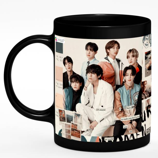 NH10 DESIGNS BTS Signature BTS BTS Bangtan Boys Vogue Music Band V Suga J-Hope Jungkook Jin Jimin Rm BTS Signature Army Best Gift for Boys Girl BTS Lovers (BTS BLC03) Ceramic Coffee Mug