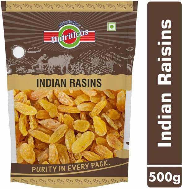 avighna's nutritious KISMIS GREEN / RAISINS GREEN / KISMIS INDIAN / DRY GRAPES / KISHMISH SEEDLESS 500g Raisins