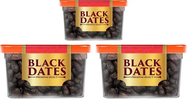 Manna Black Dates   Select Premium Organic Handpicked Dates (400g x 2 Packs and 200g x 1 Pack)   Khajoor   Khajur   Soft Dried Healthy Snack   Soft & Juicy texture   Zero Added Sugar & Preservatives   Rich in Iron, Fibre & Vitamins Dry Dates
