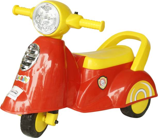 evohome Love Baby Toy Scooter Wheelie Activity Ride-on/Kids Ride On/ Baby On Toys with Musical Tunes & Light Suitable for Boys & Girls 1 to 5 Years Old Kids Gift