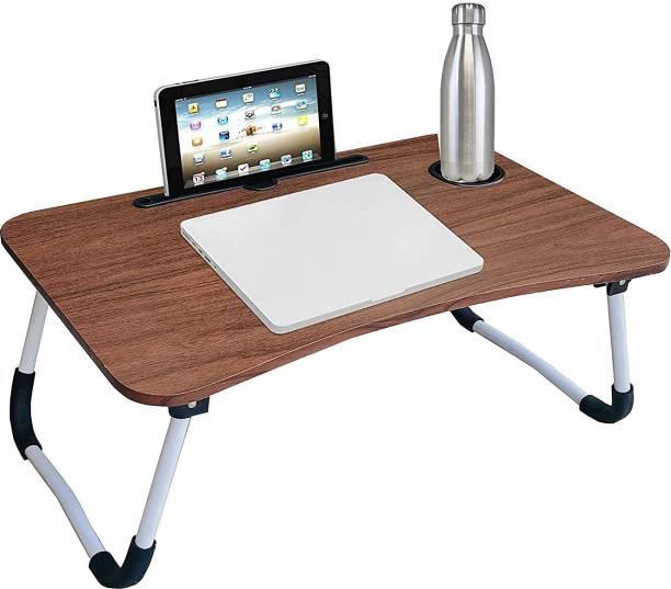 eduway Engineered Wood Foldable Study Desk Wood Portable Laptop Table