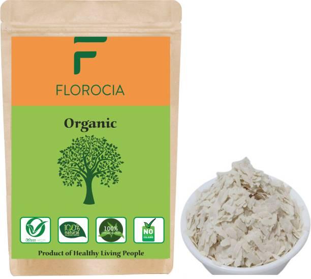 Florocia Organic White Poha (Flattened Rice/Atukulu), 500g Poha (Medium Grain, Unpolished)