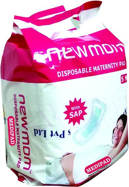 Newmom Disposable Maternity Pads (Medi) - Pack of 5 X 3 Value Pack Sanitary Pad