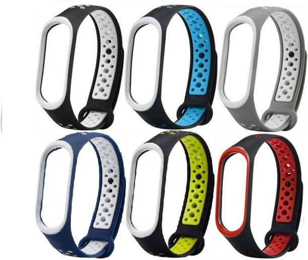 Caxon Replacement Nike Style TPU Silicon Strap Compatible with  Band 4 &  Band 3 Smart Band Strap