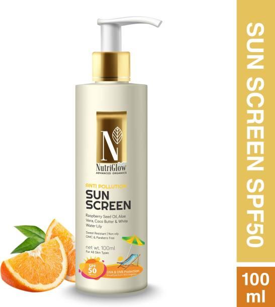 Nutriglow Advanced Organics Anti pollution SunScreen - UVA & UVB Protection - SPF 50 PA+++
