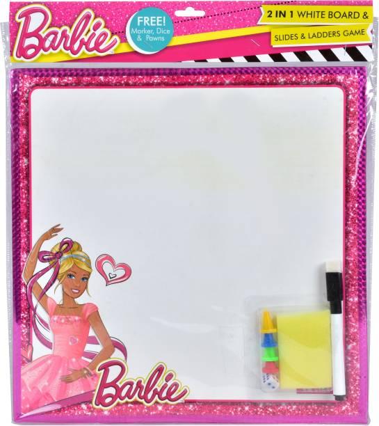 BARBIE 2 in 1 Writing Board & Snakes & Ladders Educational Board Games Board Game