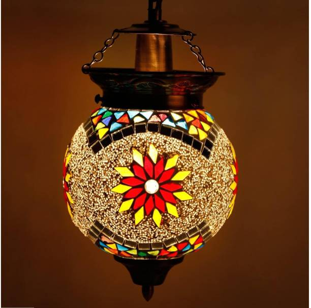 Vishal Handicraft Handcrafted mosaic decorated glass hanging light Pendants Ceiling Lamp Pendants Ceiling Lamp