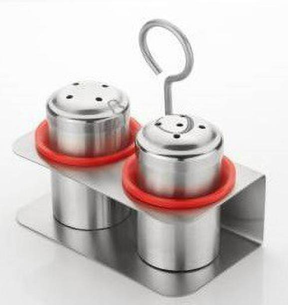 Kreyam's Salt and Pepper Jar Red 1 Piece Spice Set