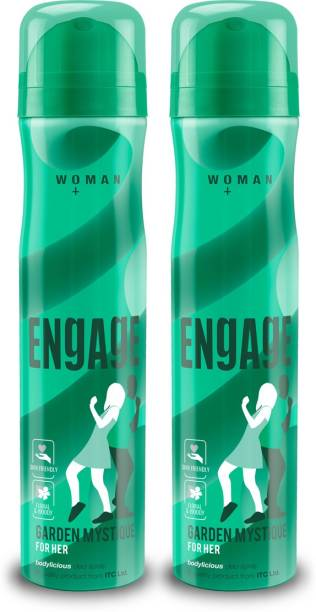 Engage Garden Mystique Deodorant for Women, Spicy and Woody, Skin Friendly, 150ml Pack of 2 Deodorant Spray  -  For Women